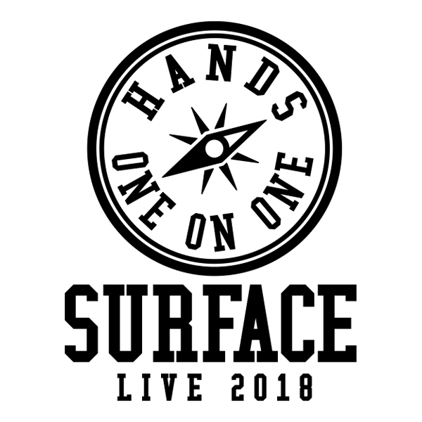 SURFACE LIVE 2019「HANDS~one on one~」LOGO